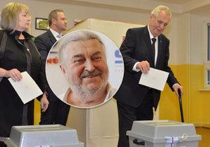 Proč Miloš Zeman ve svém okrsku volil sám SPO