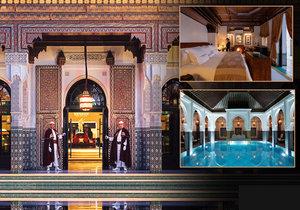 Luxusní hotel La Mamounia v marockém Marrákeši