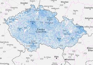 Podívejte se na interaktivní mapu, která ukazuje pokrytí Česka internetem.