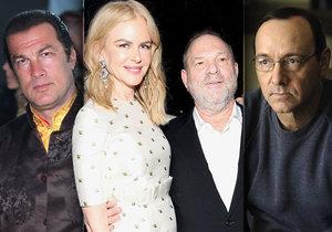 Lavinu obvinění ze sexuálního obtěžování spustil producent Harvey Weinstein. Po něm byl obviněn Kevin Spacey či Steven Seagal.