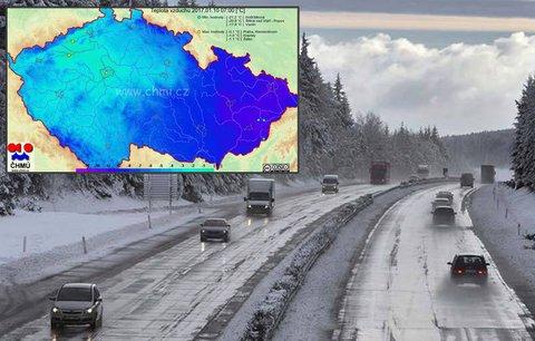 Teplé Čechy, studená Morava. Východ země byl v noci chladnější i o 20 stupňů