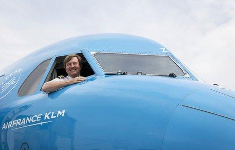 Tajné hobby nizozemského krále Viléma-Alexandra: Létám pro KLM! Vozím pasažéry po Evropě