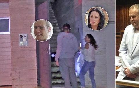 Krejčířova rodina je v Česku! Kateřina a syn Denis kontrolovali vilu po nájezdu youtuberů