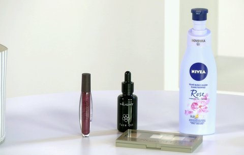Vyzkoušeno před kamerou: Bio olej na obličej a paletka stínů
