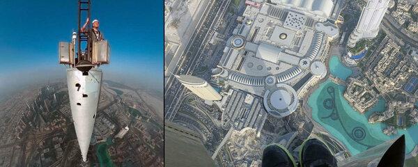 Selfie z nejvyšší budovy světa: Fotograf balancoval skoro kilometr nad zemí!