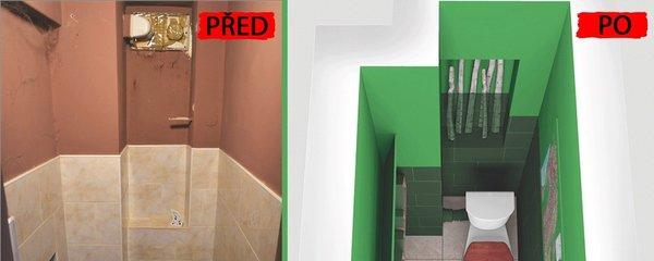 Proměna vybydlené toalety: Útulný a hravý prostor za pár korun