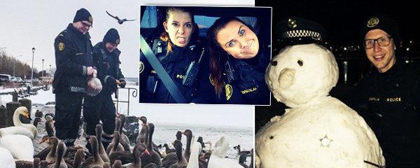 Být policajtem na mrazu je psina, chvíli relax, chvíli dřina: Strážci zákona z Islandu udivují Instagramem