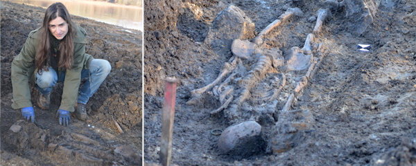 Na Nechranické přehradě klesla voda: Objevily se kostry