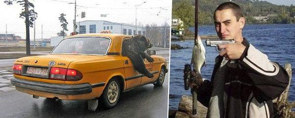 S medvědem v taxíku a rybaření s pistolí: 20 aktivit, které dělají Rusové jinak