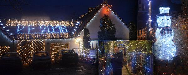 37 tisíc žároviček, 20 km kabelů: Tohle je nejosvětlenejší vánoční dům v Česku