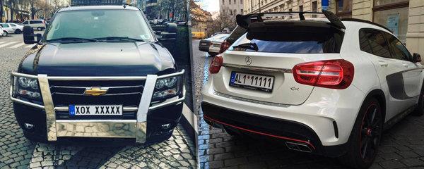 VIP00007 a AAA66666: Luxusní bouráky s SPZ na přání brázdí Prahu. A je z toho i byznys!