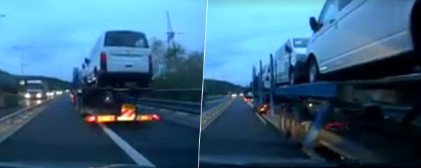"Drama na dálnici: Kamion auto natlačil na svodidla a ""sešrotoval"" ho!"