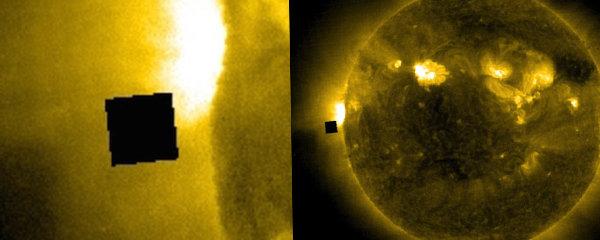Záhadný čtverec u Slunce: Skrývá NASA vesmírnou loď?!