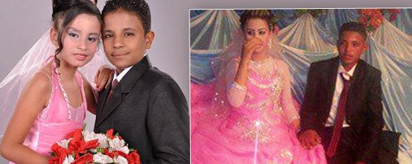 Zvrácená egyptská svatba: Nevěstě je 10 let a ženichovi 12!