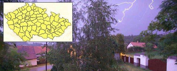 Silné bouřky hrozí v celém Česku. Sledujte radar, jak jdou na vás