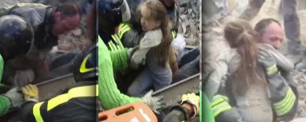 V troskách byla uvězněna 17 hodin! Dívenku (10) zachránili ze sutin po zemětřesení v Itálii