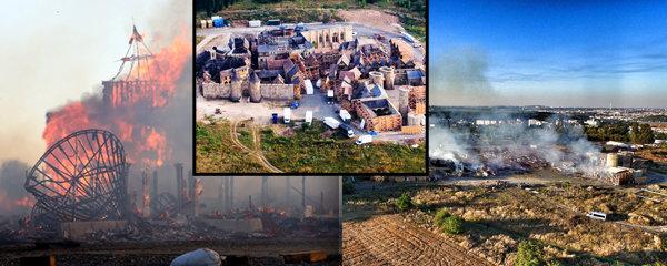 Požár na Barrandově: Hoří filmové kulisy, jsou zranění. Škoda přes 100 milionů