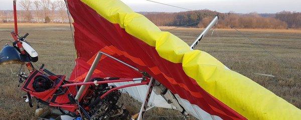 Na Břeclavsku se zřítilo motorové rogalo: Polský pilot nepřežil