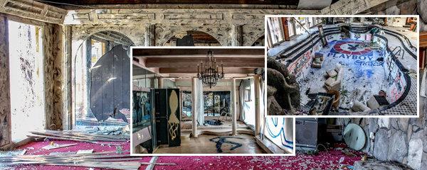 Tajemství opuštěného sídla striptýzového magnáta: Zmizel on i jeho žena, jejich dům je rájem vandalů