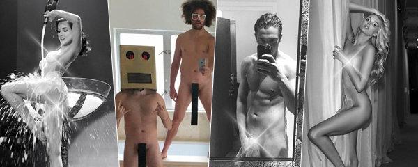 Exhibicionistické celebrity: Kdo se zase na internetu ukázal úplně nahý?