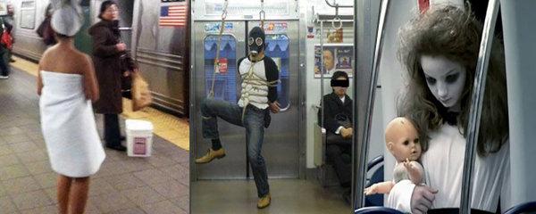 Divnolidi v metru: Nejvtipnější pasažéři, na které můžete cestou narazit!