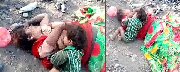 Tragické video: Chlapec (17 měs.) pláče u těla mrtvé matky a z prsu pije mléko