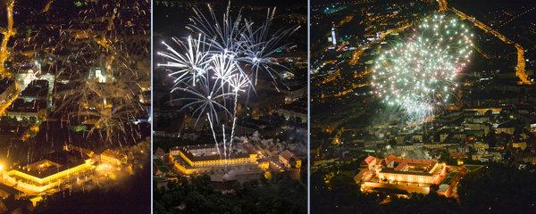 Nebe v plamenech: Podívejte se na unikátní snímky brněnského ohňostroje z letadla