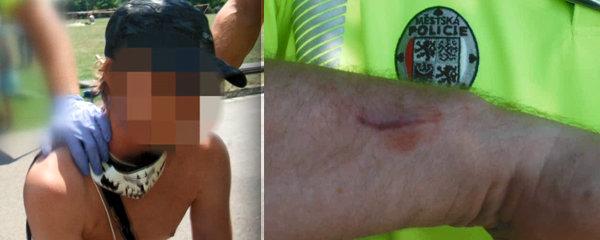 Opilec pokousal strážníka při zatýkání: Na dětském dnu pokřikoval sprosťárny