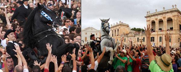 """Nebezpečný festival ve Španělsku: Lidé kvůli """"štěstí"""" riskují život"""