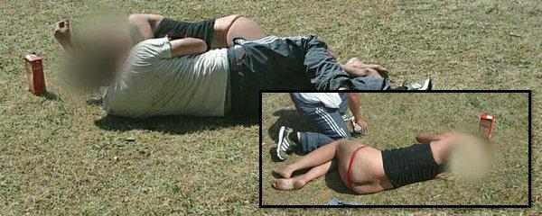 Žena z Chomutova si ustlala na trávě: Opilou a s nahým zadkem ji sbírali strážníci