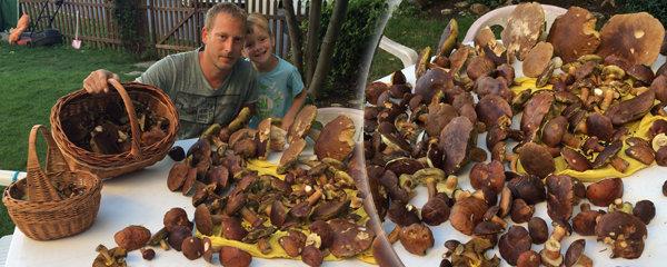 Dobrá zpráva pro houbaře: Bude pršet, porostou! Emil (36) nasbíral tři koše hřibů