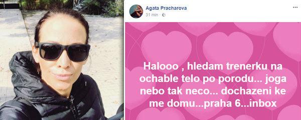 Agáta Prachařová krátce po porodu: Ochablo jí tělo, shání pomoc!