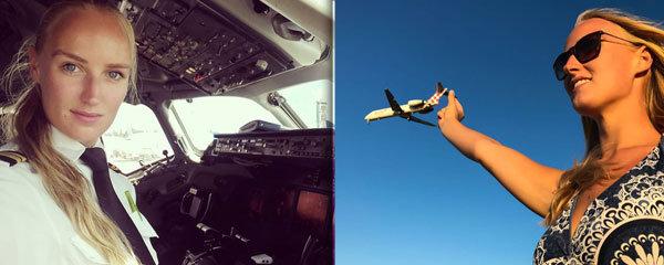 Sexy pilotka dobyla internet: Chlapi z ní mají hlavu v oblacích!