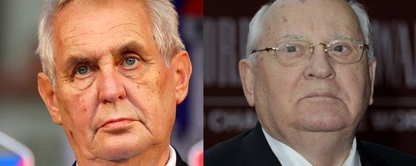 """Gorbačov je na kapačkách. Zemanovi setkání s vůdcem SSSR asi """"neklapne"""""""