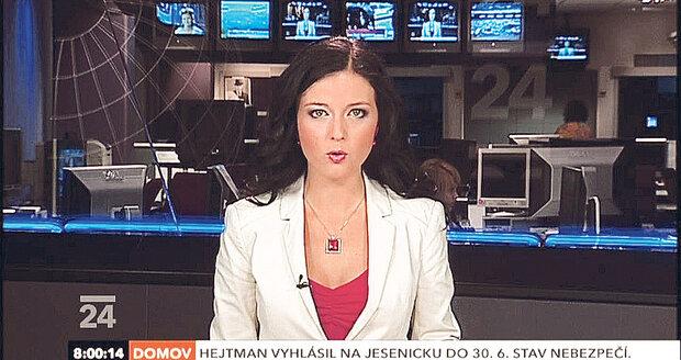 Savarová už si post moderátorky vyzkoušela ve 24