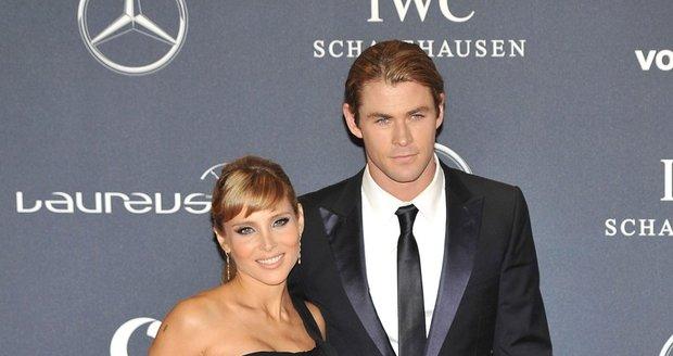 Chris se svou ženou - herečkou Elsou Pataky