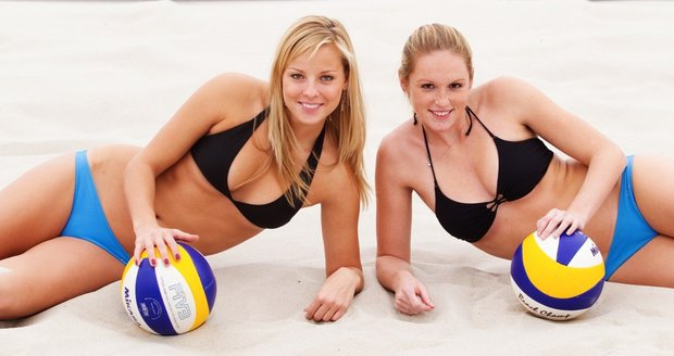 Hot volleyball players