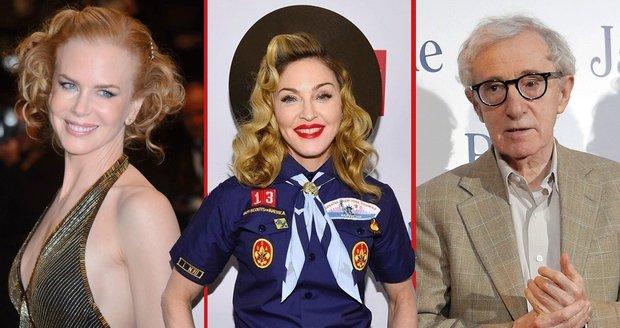 Čeho se bojí celebrity? Nicole Kidman motýlů, Madonna bouřky a Woody Allen slunečního svitu