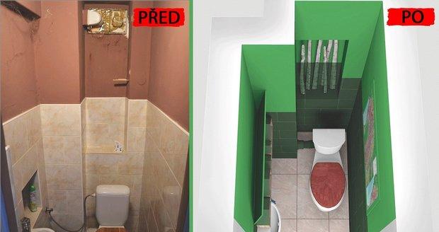 Proměna panelákové toalety: Útulný a hravý prostor za pár korun