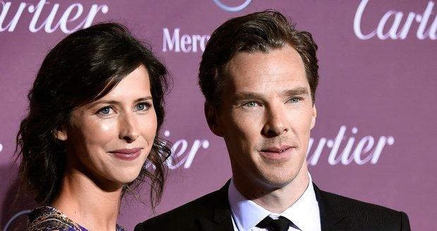 Benedict Cumberbatch a Sophie Hunter se vzali na sv. Valentýna