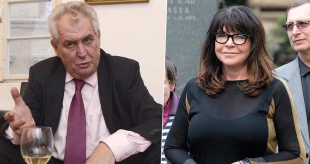 Kvůli výrokům Miloše Zemana žaluje stát Peroutkova vnučka Terezie Kaslová
