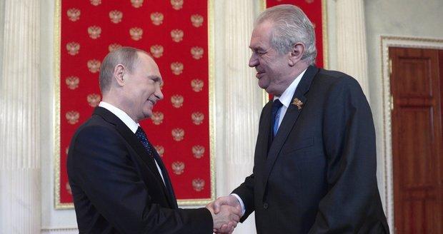 Miloš Zeman s Vladimirem Putinem