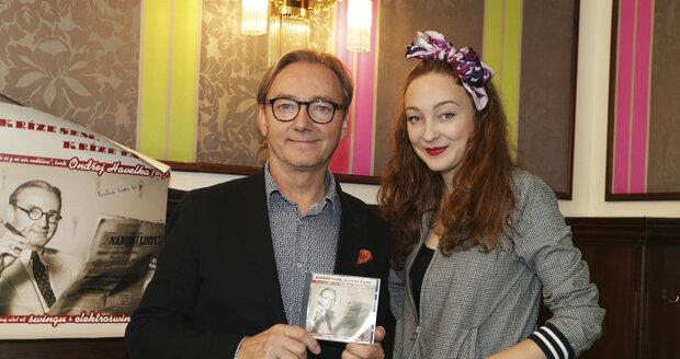 Rozálie Havelková se svým otcem Ondřejem Havelkou