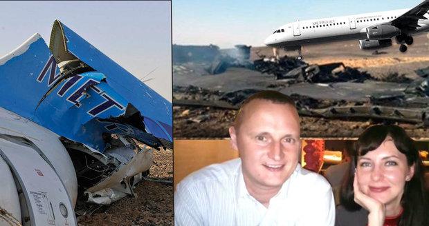 Mladí manželé zahynuli při pádu ruského airbusu: Do Egypta odletěli slavit 1. výročí!