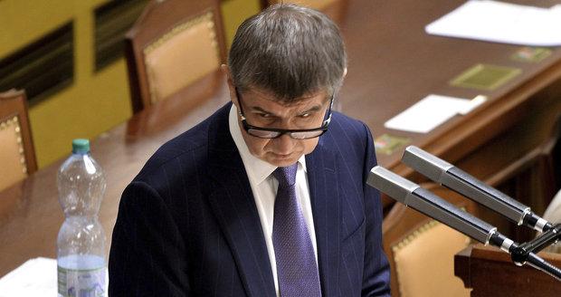 Andrej Babiš během mimořádné schůze sněmovny ke schvalování EET (18. 12. 2015)