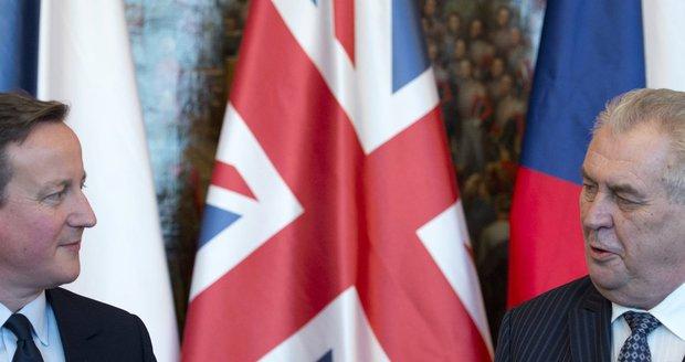 David Cameron se setkal s prezidentem Zemanem.
