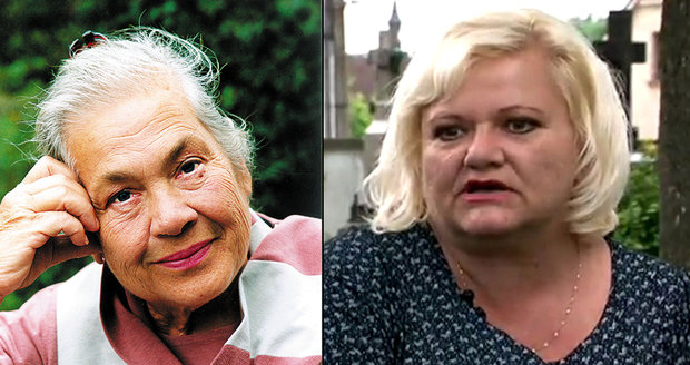 Míla Myslíková a její neteř Alena Šimáčková