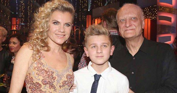 Šípek s exmanželkou Leonou Machálkovou a synem Arturem