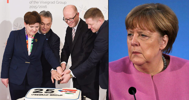 Sobotkova čtyřka proti Merkelové a Řekové ven? V4 řeší Němci, Klaus i Fiala