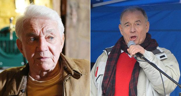 Herci Jiří Krampol a Ivan Vyskočil spustili protiuprchlickou písničku.